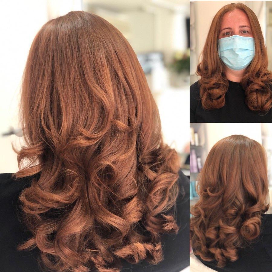 red hair colour at Hertford hair salon in Hertfordshire